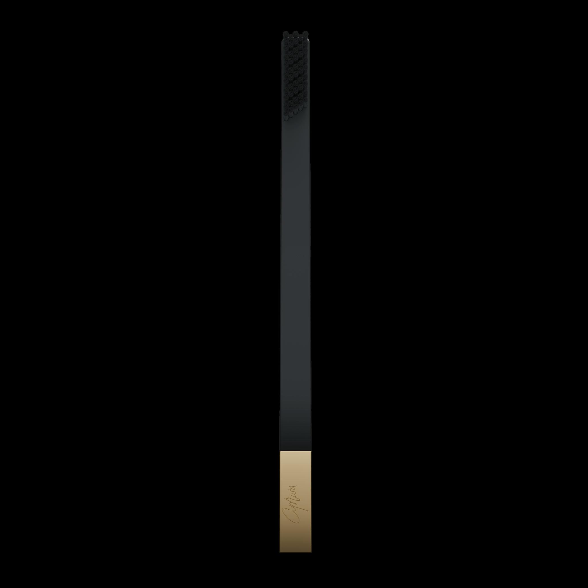 Дизайнерская зубная щетка черная SLIM by Apriori