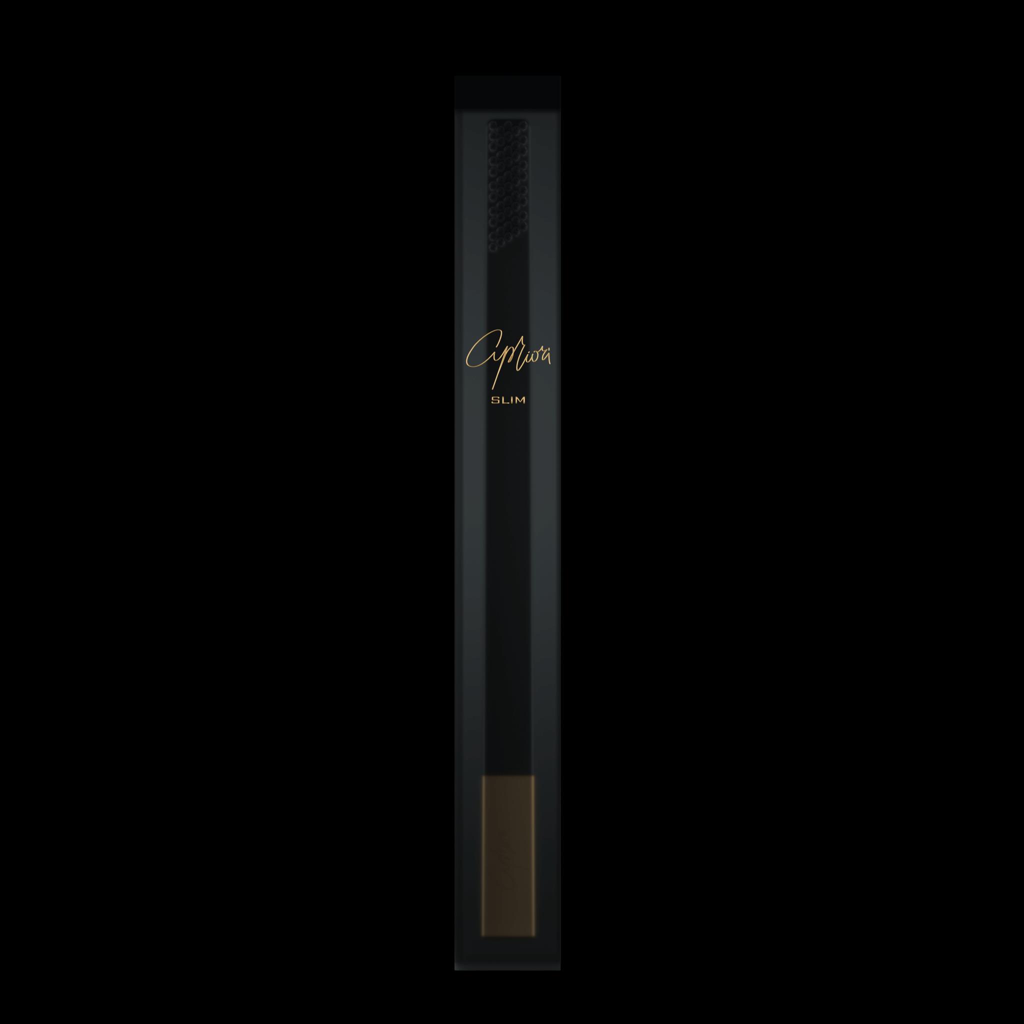 Дизайнерская зубная щётка SLIM by Apriori чёрная с золотом