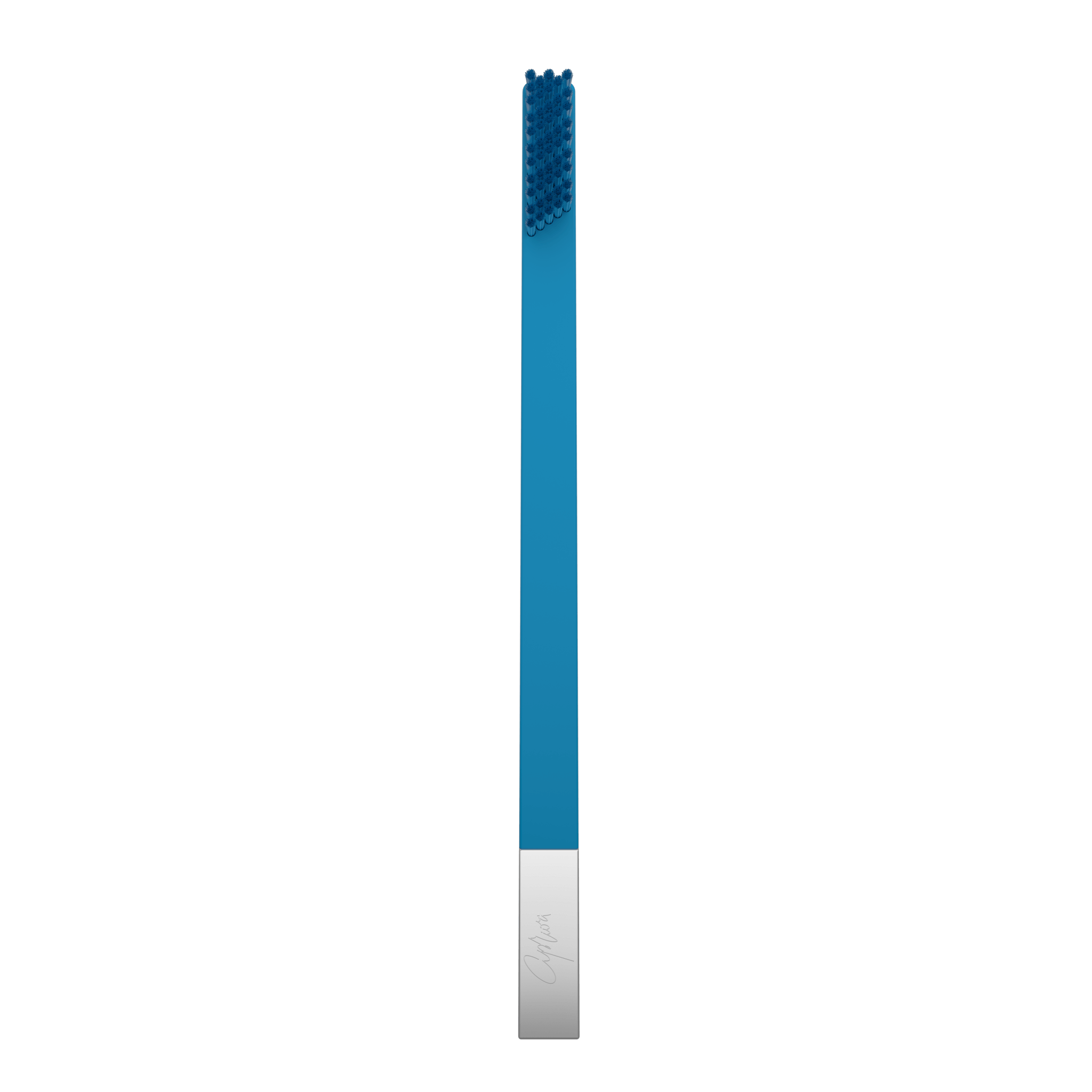 SLIM by Apriori blue & silver disposable toothbrush
