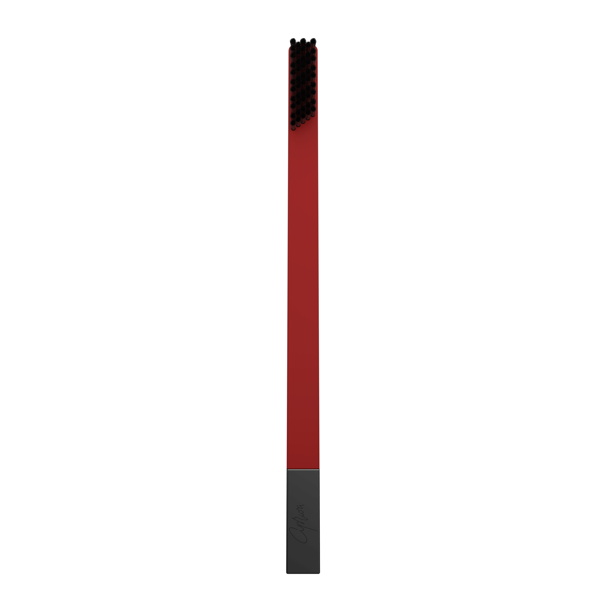 SLIM by Apriori red & black disposable toothbrush