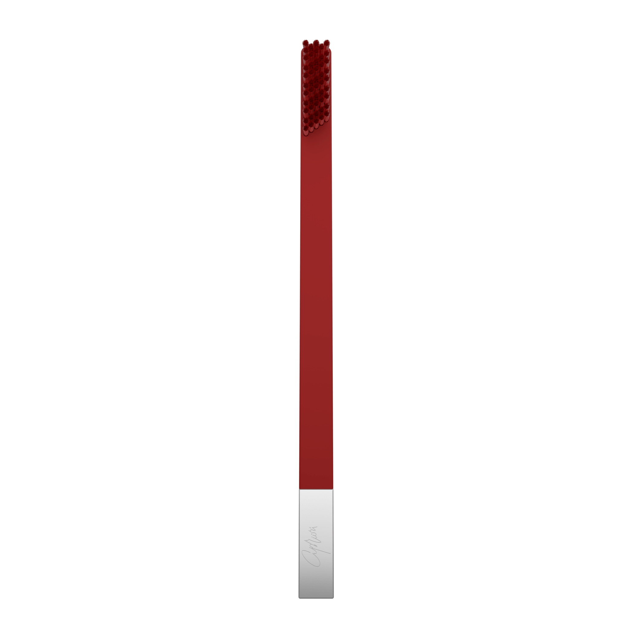 SLIM by Apriori red & silver disposable toothbrush