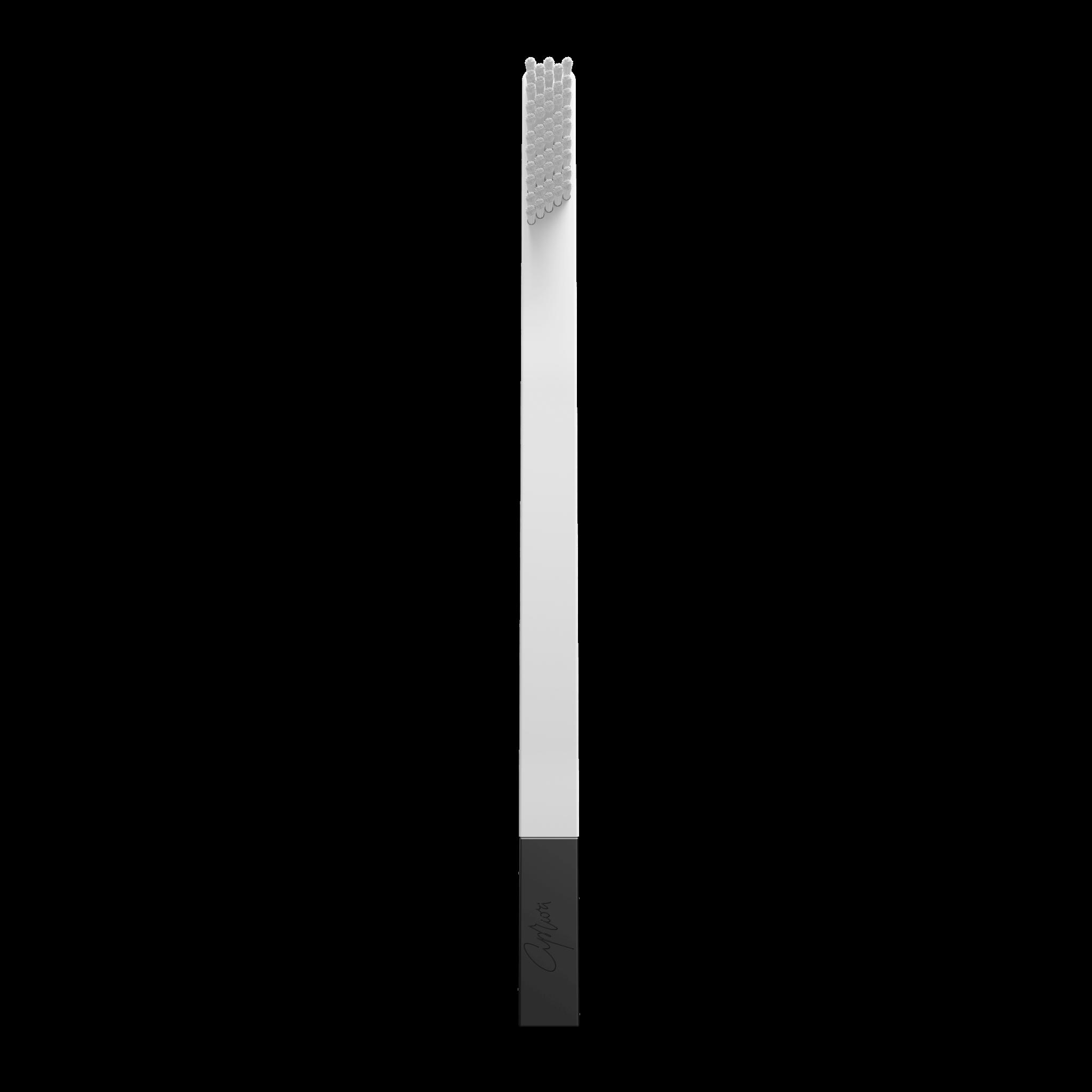 SLIM by Apriori white & black disposable toothbrush