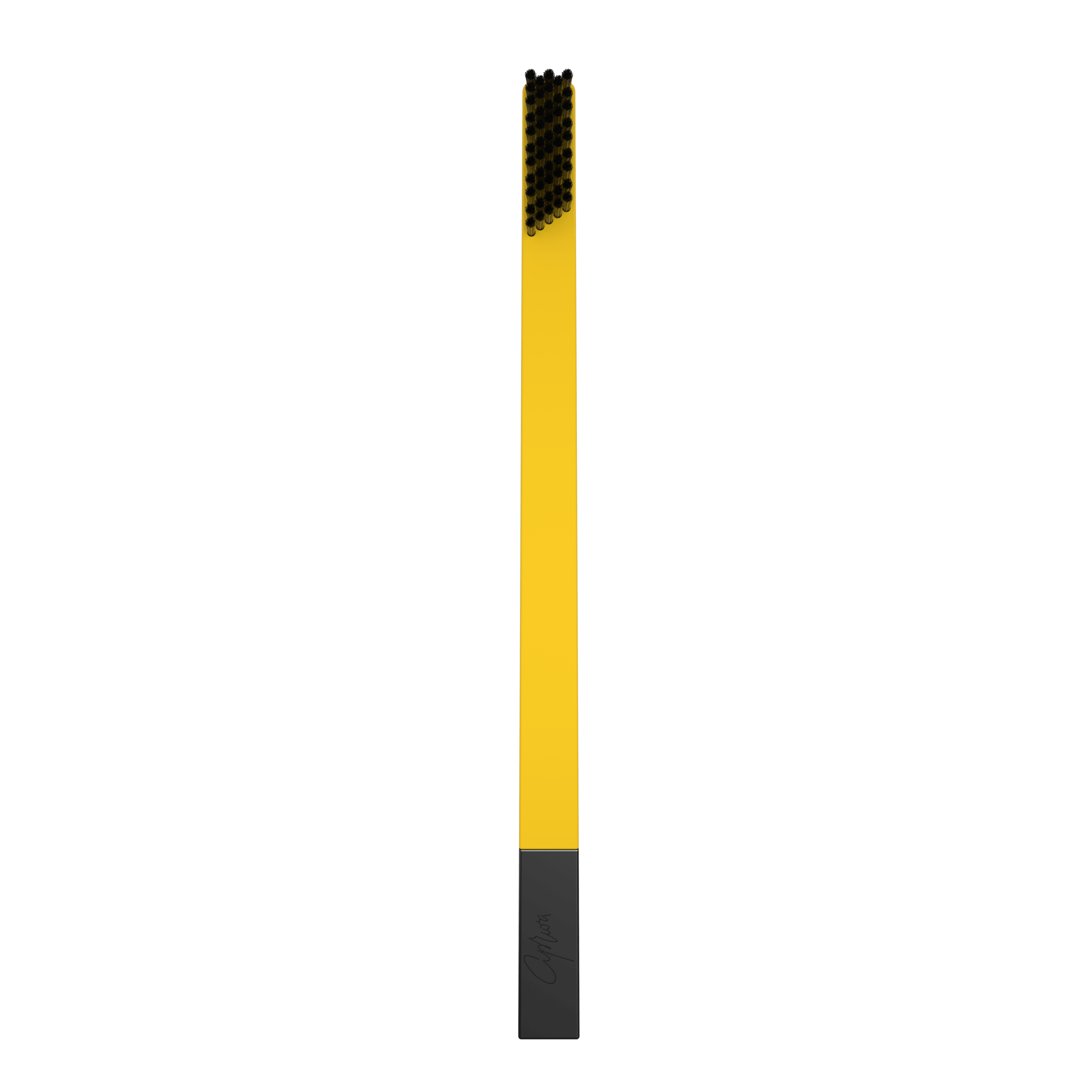 SLIM by Apriori yellow & black disposable toothbrush