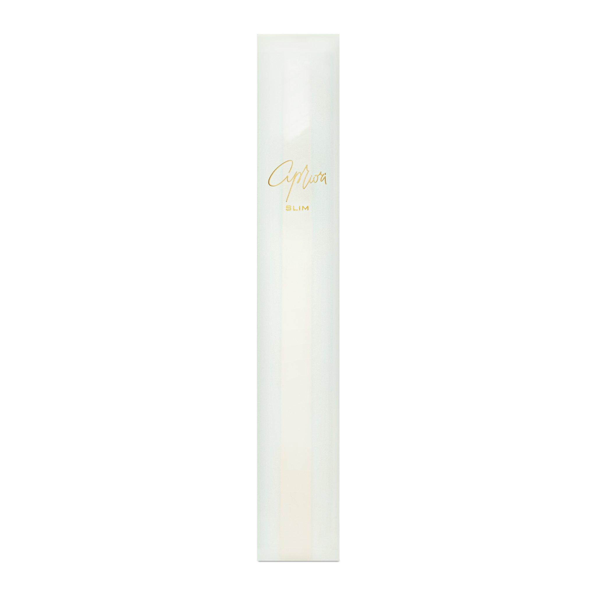 Дизайнерская белая зубная щетка SLIM by Apriori с золотом в упаковке
